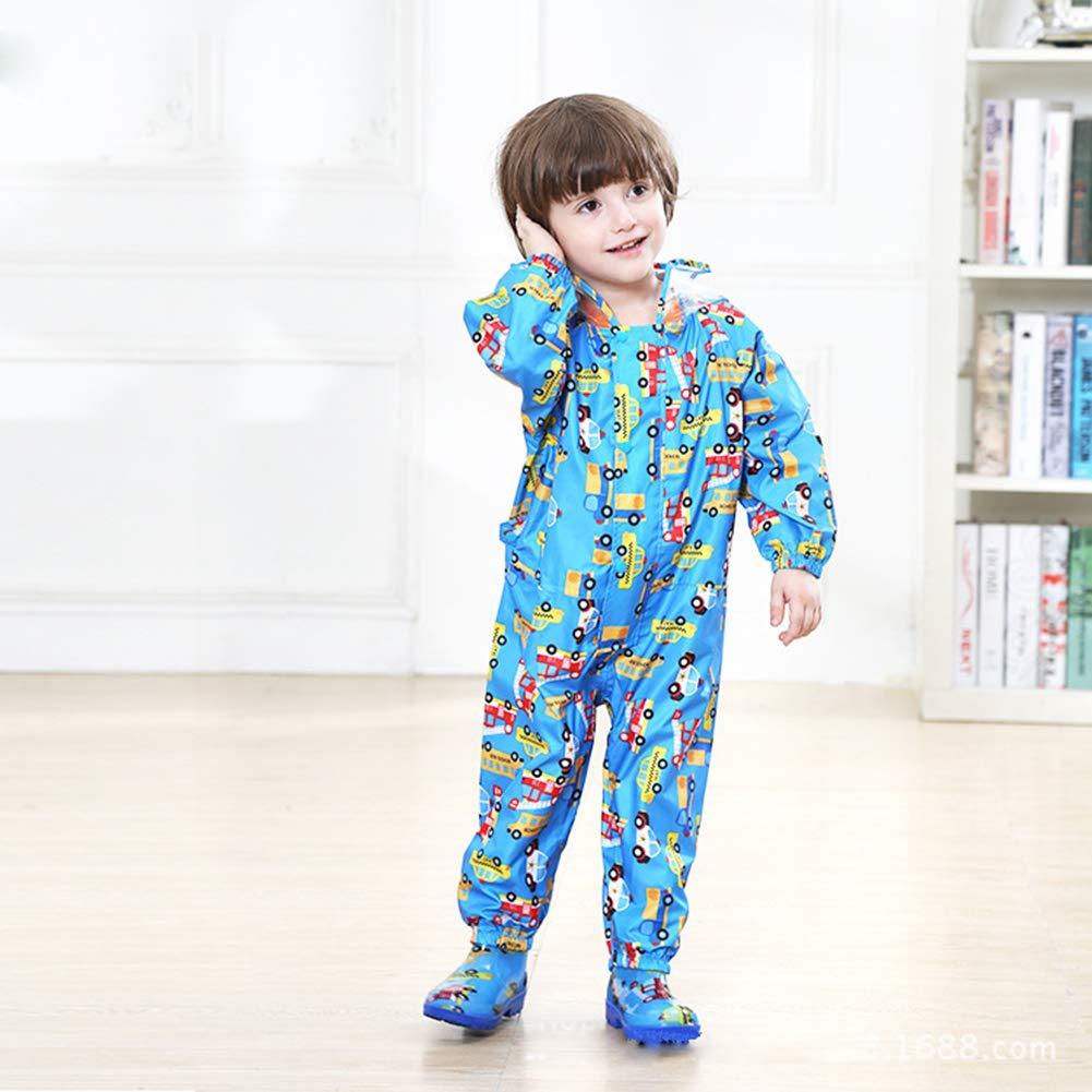 D C.Supernice Kids Waterproof Trousers Childrens Boys Girls Cute Cartoon Printed Waterproof Pants Rainwear