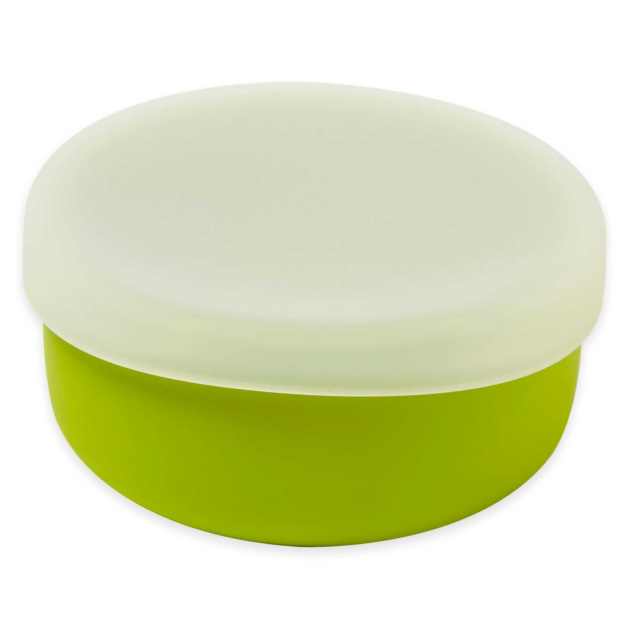 Modern Twist 4.85 oz. Silicone Bowl with Lid in Green (3 Packs)