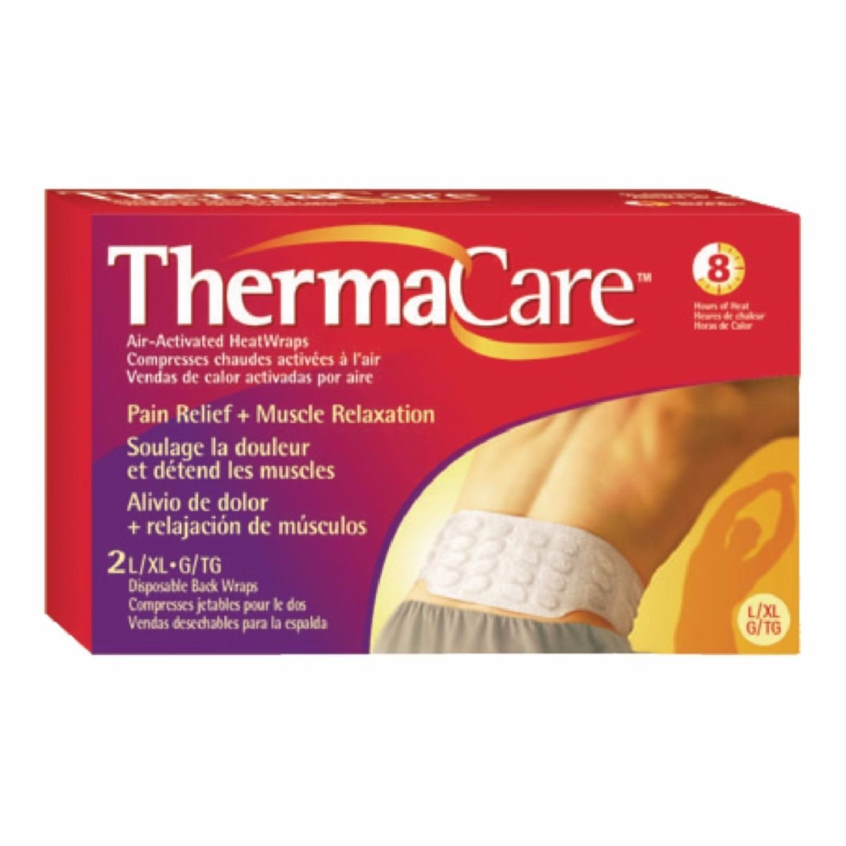 ThermaCare Air-Activated Heatwraps, Back & Hip, S/M 2 ea by ThermaCare B07BHY9SDP