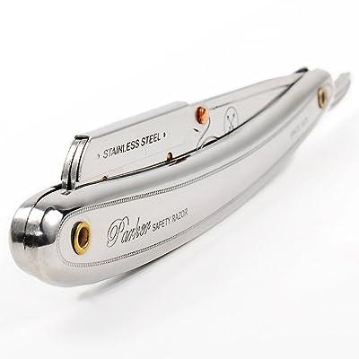 Parker SR1 Stainless Steel Straight Edge Professional Barber Razor
