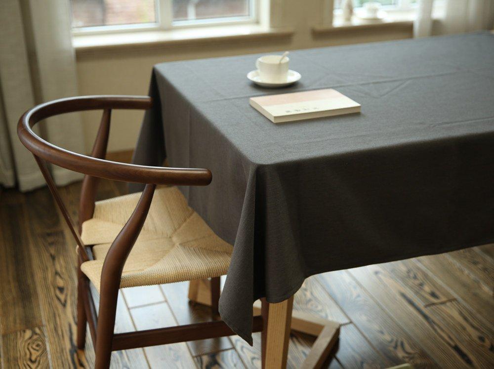 WFLJL tovaglia Stile di Campagna colore Solido tovaglia la Letteratura e L'Arte Tavolo da caffè Tavolo da Pranzo Grigio 120  180cm