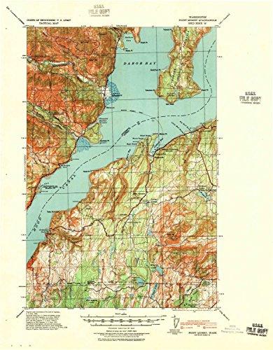 ery WA topo map, 1:62500 scale, 15 X 15 Minute, Historical, 1940, 21.8 x 17 IN - Tyvek ()