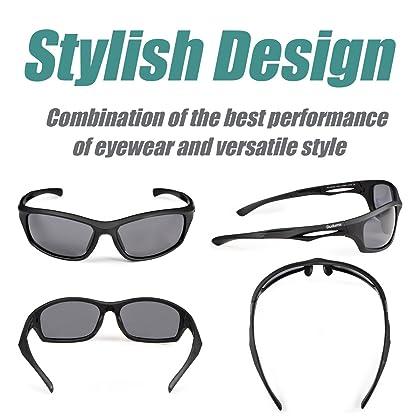 Duduma Polarized Sports Sunglasses for Baseball Running Cycling Fishing Golf Tr90 Unbreakable Frame
