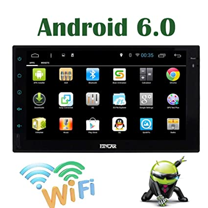 External Microphone+Android 6 0 Quad Core 7 Inch Full Touch-Screen  Universal Car Stereo Radio 2 Din GPS Navigation Car Audio System Built-in  and
