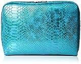 LeSportsac Crazy For Color Extra Large Rectangular Cosmetic Case, Aqua Snake, One Size