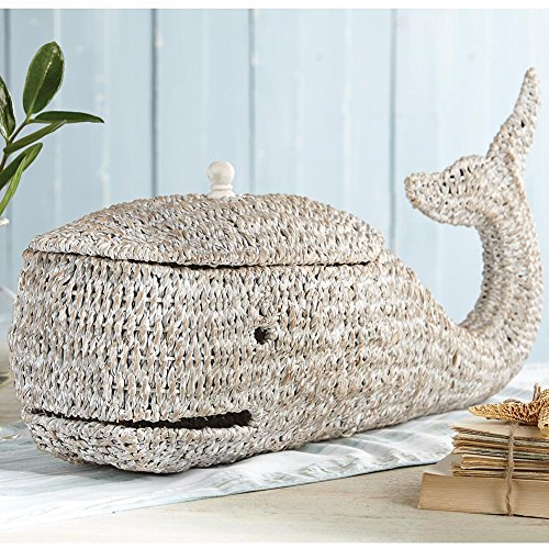 Creative Co-Op Bankuan Rope Whale Box (Basket Whale)