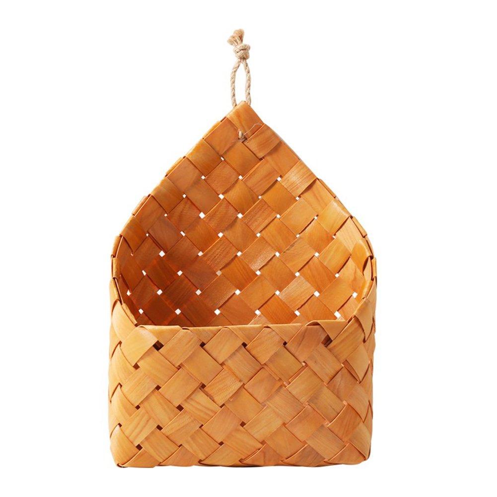 Starter cedro naturale, tessuto a parete cestino pensile Flowerpot decorazioni da parete cesto portaoggetti da appendere EJ00579