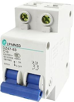 DZ47-63 C40 ON//OFF Switch DIN Rail Circuit Breaker 2P