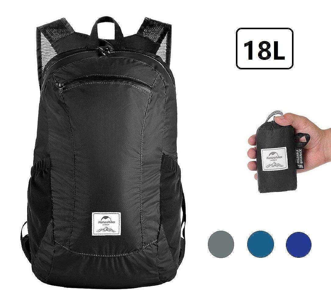 Sunuo Outdoor Folding Waterproof Portable Packable Pocket Bag Travel Walking Lightweight Backpack Sports Bag Daypack 18L