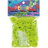 Official Rainbow Loom 600 Neon Green Refill Bands w/ C Clips