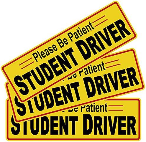 <span style=''>3pcs 12x3.8 Student Driver Please Be Patient Stick..</span>