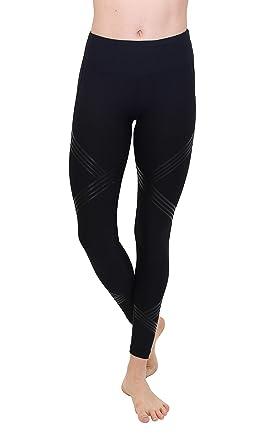 b1ad91dce6cc9 Amazon.com: 90 Degree By Reflex Silicone Panel Printed Leggings: Clothing