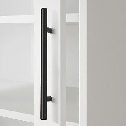 Tiradores de puerta de armario de cocina de 96 mm, 25 unidades, acero inoxidable, color negro, acero inoxidable, Centros de los agujeros: 160 mm., 15 Pack: Amazon.es: Bricolaje y herramientas