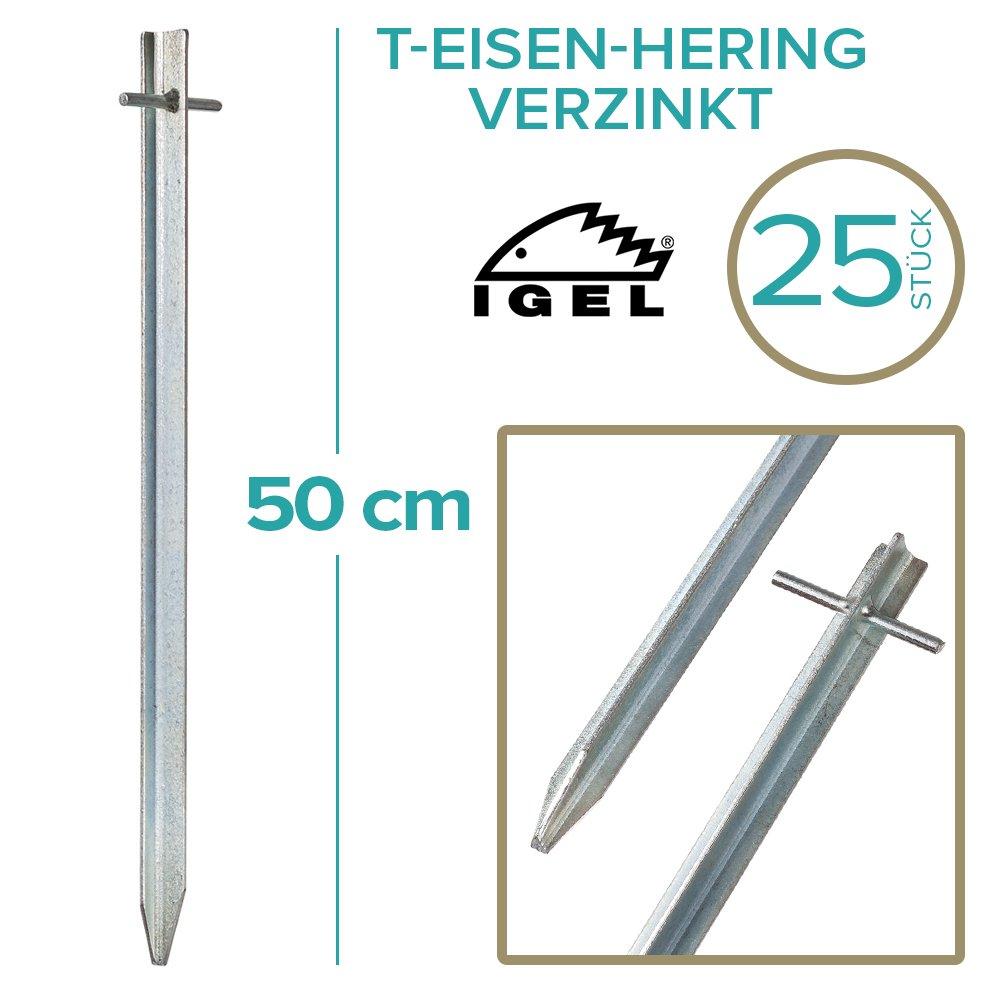 IGEL T-Eisen-Hering 50cm verzinkt 4 12 25 50er Sets …