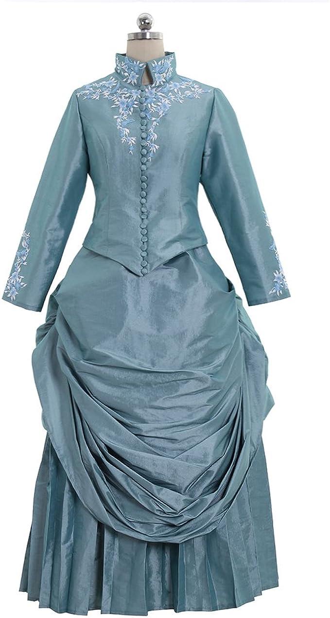 Victorian Costumes: Dresses, Saloon Girls, Southern Belle, Witch 1791s lady Victorian Bustle Gown Dress Medieval Renaissance Minas Bustle  AT vintagedancer.com
