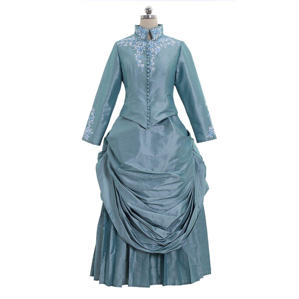 1880s Fashion Dresses, Clothing, Costumes 1791s lady Victorian Bustle Gown Dress Medieval Renaissance Minas Bustle $158.20 AT vintagedancer.com