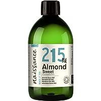 Naissance Organic Sweet Almond Oil (nr. 215) 500ml - Puur en natuurlijk, gecertificeerd biologisch, koud geperst…