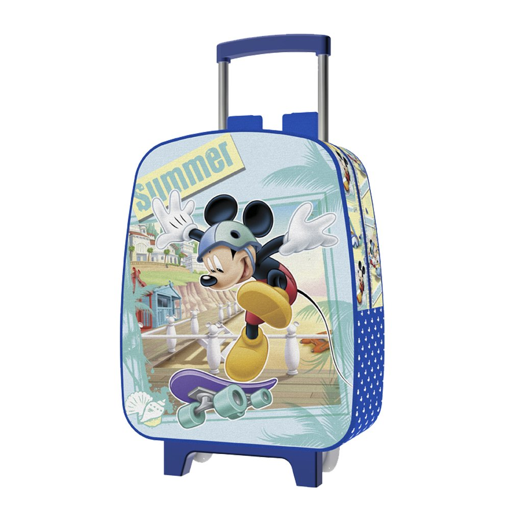 Jaimarc Mickey Mochila Carro para Guardería, 28 x 24 cm, Color Azul: Amazon.es: Equipaje