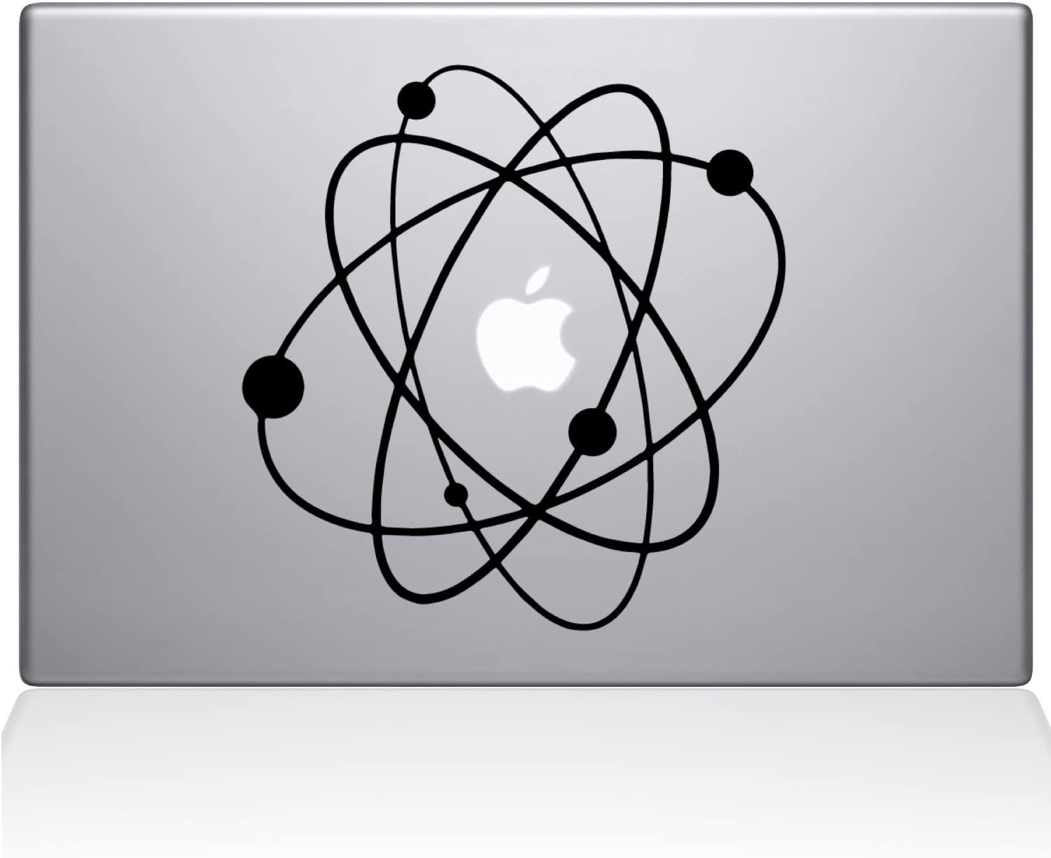 Love Science Atom Big Bang Galaxy Apple Overlay Art Vinyl Decal Sticker Skin Mac Book Air Pro Laptop Notebook People Love (Newest Version) (Black. Love Science Atom Big Bang Galaxy)