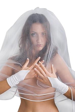 abe7ef90b20 MGT-Shop Brauthandschuhe Braut Handschuhe Hochzeit Brautzubehör Zubehör  Brautaccessoires 20 cm weiß