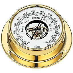 Barigo 183MS Tempo Series Ships Barometer Brass