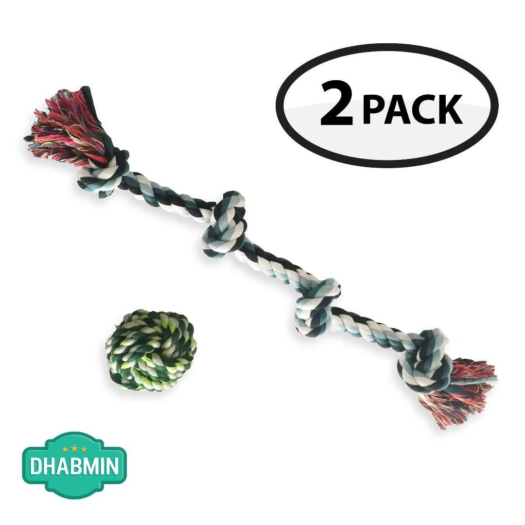 Dhabmin Juguetes de Cuerda para Perro Grande, Cuerda de 4 Nudos + ...