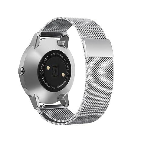 Omicton 20 mm universel Femme pour homme en acier inoxydable massif Bracelet de montre Sangle de ...