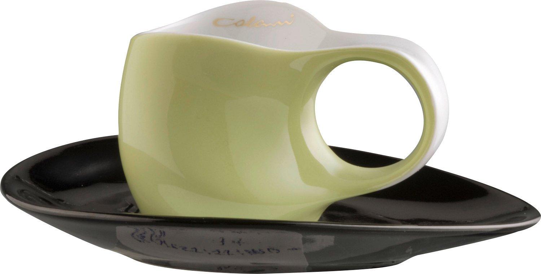 Colani 2-pc espresso set apfelgrün