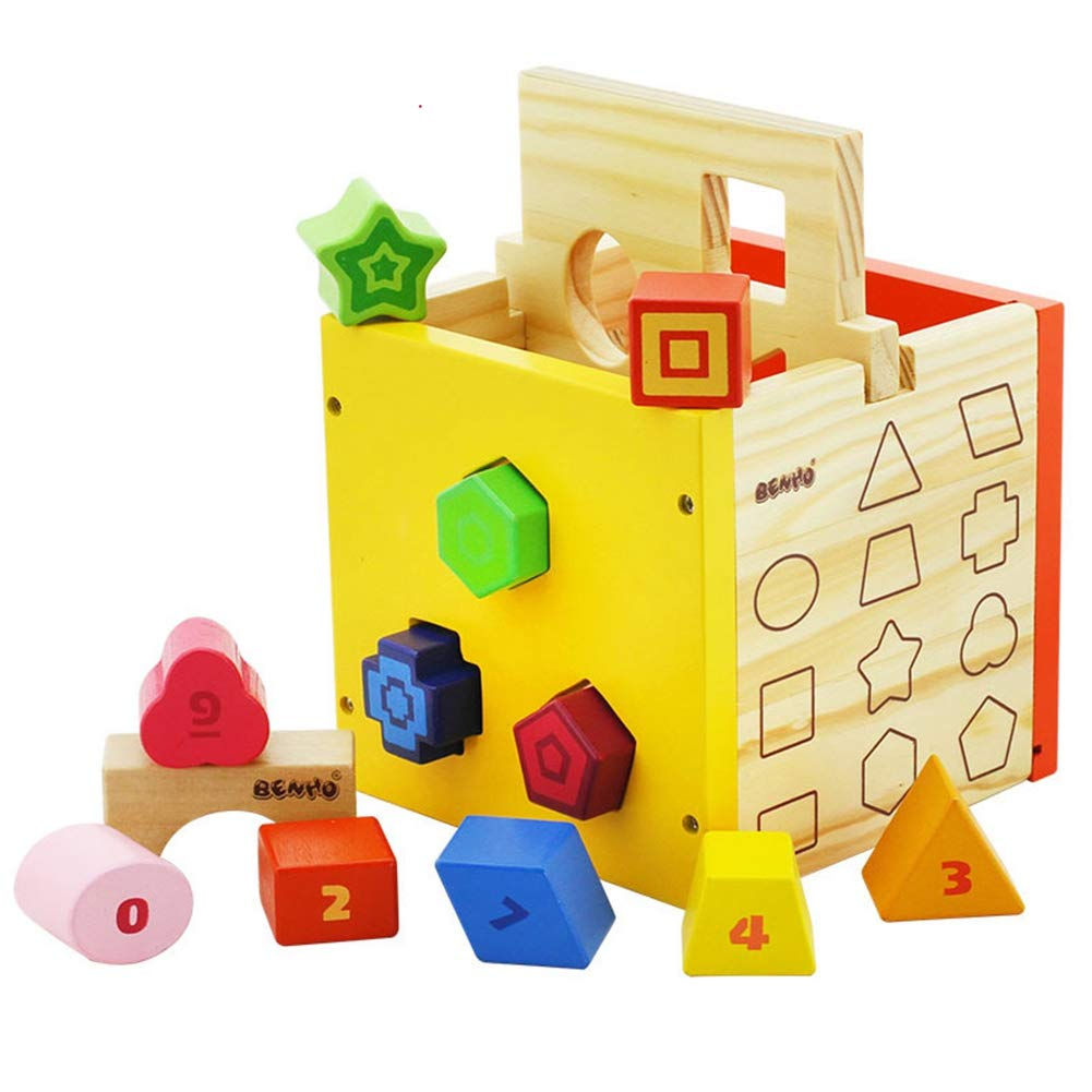 Cube Geometric Shape Preschool Educational Toy Baby Recognition Match Puzzle