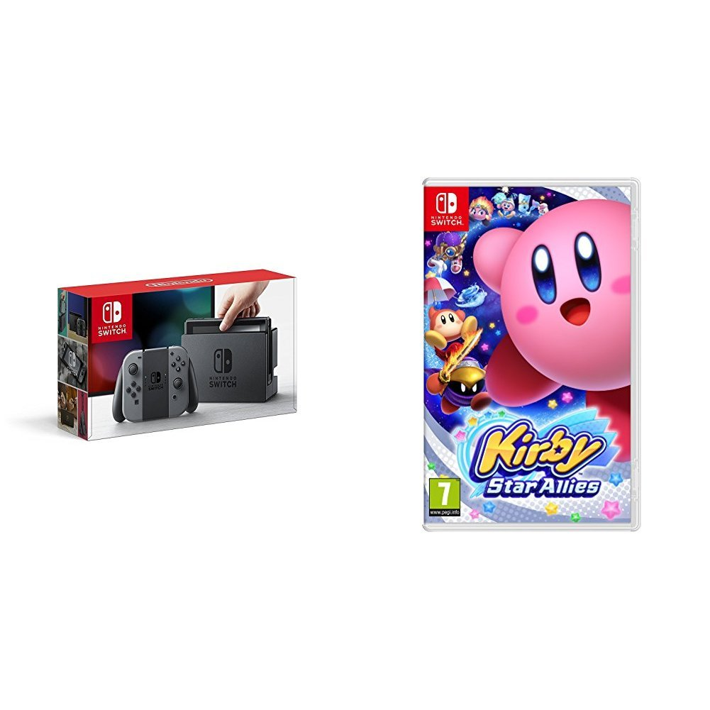 Nintendo Switch - Consola Color Gris + Kirby Star Allies ...