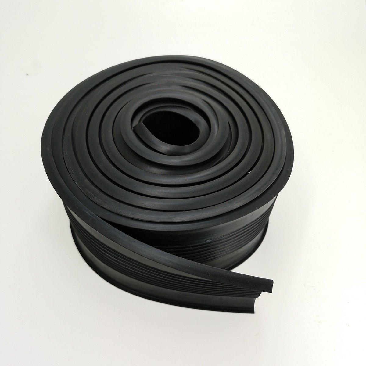 BOWSEN Garage Door Seal U Shape Gasket Bottom Rubber Weather Stripping Black U Shape, 5/16inch T-end, 12FT Long