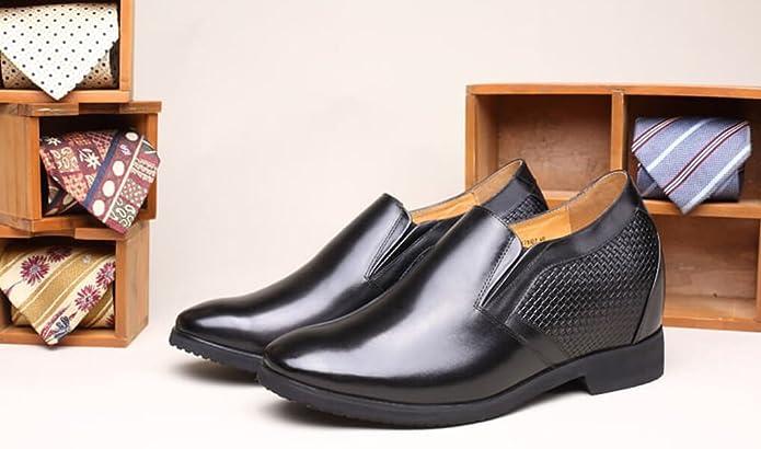 5 Schwarz Herren Chamaripa Cm Loafer On 10 Schuhe Slip Erhöhen Leder XiOPTwuZkl