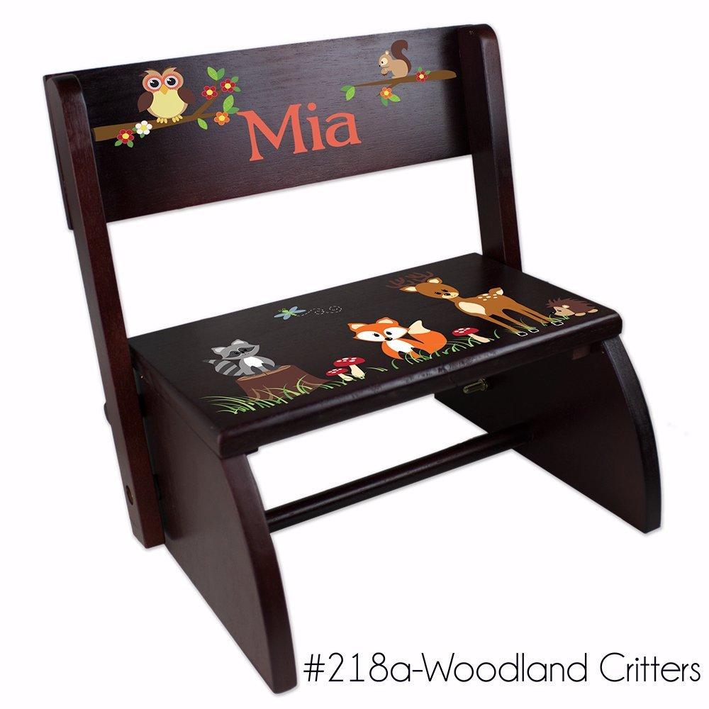 Personalized Woodland Critter Folding Step Stool