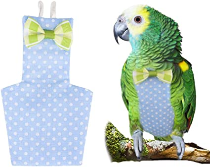 Parrot Diaper Washable Nappies Fashion Flight Suit for Small to Large Parrot