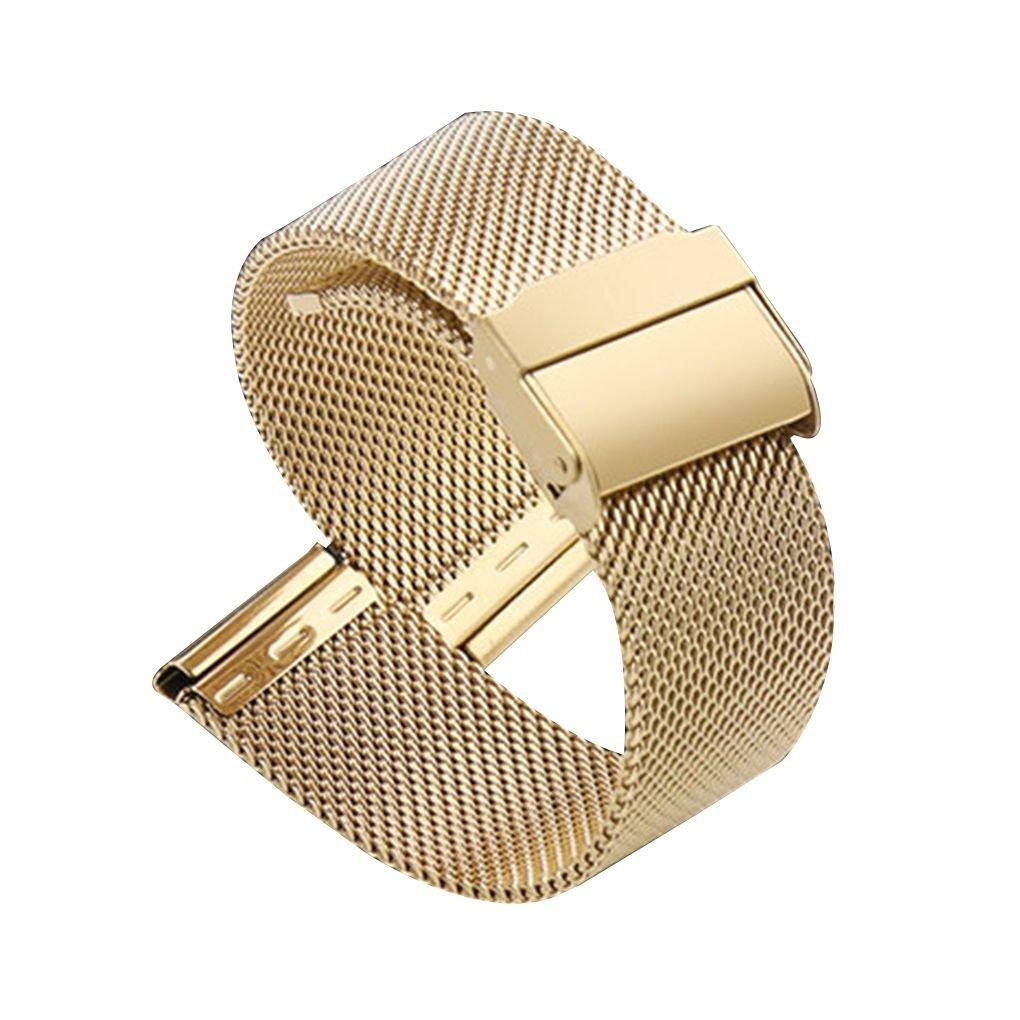 Lidahaotin Cinturino impermeabile sweatproof universale in acciaio inox tessuto cinturino per Flat/Diritto interfaccia Guarda nero 12mm