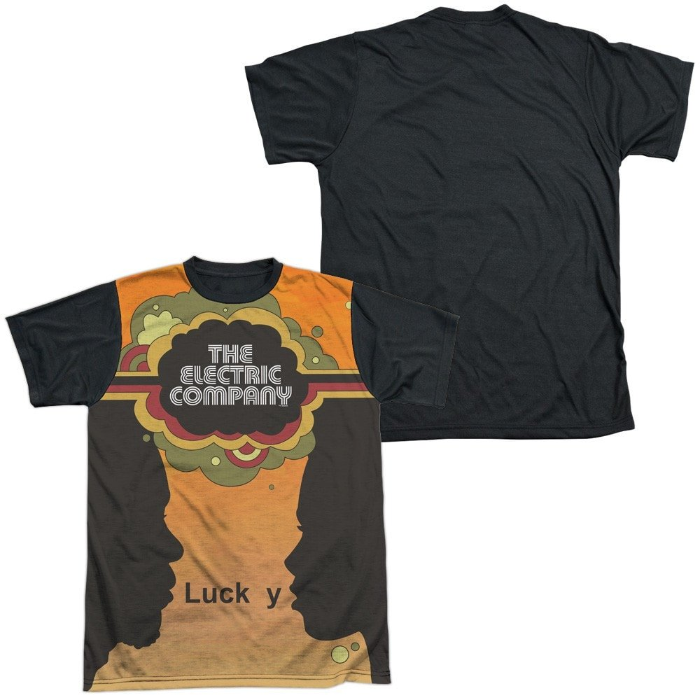 Silhouette Blend Adult Black Back 100/% Poly T-Shirt Electric Company