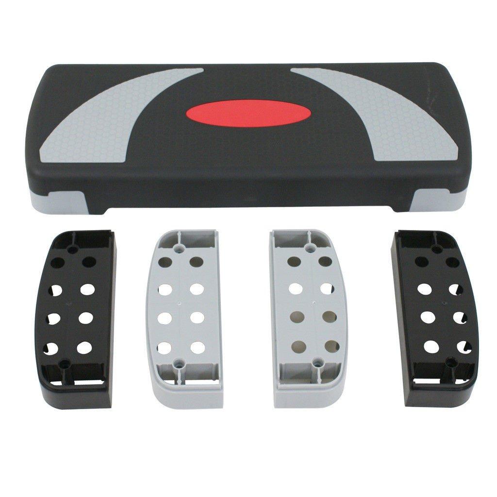 HomGarden 30 Adjustable Workout Aerobic Stepper in Fitness /& Exercise Step Platform Trainer Stepper w//Risers Adjust 4-6 Set of 1 8