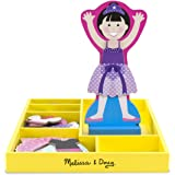 Melissa & Doug Ballerina Leah Wooden Dress-Up Doll and Stand - 33 Magnetic Accessories