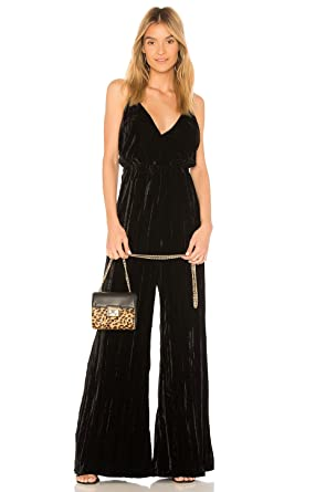 05c7e276608 Amazon.com  Nightcap Women s Crushed Velvet Jumpsuit in Black