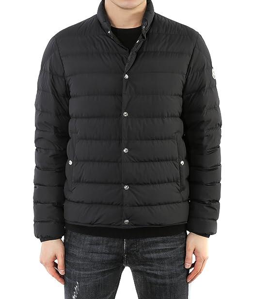 Wiberlux Moncler Cyclope Men's Padded Snap-Fastened Jacket 5 Black