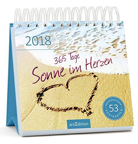 365 Tage Sonne im Herzen 2018: Postkartenkalender