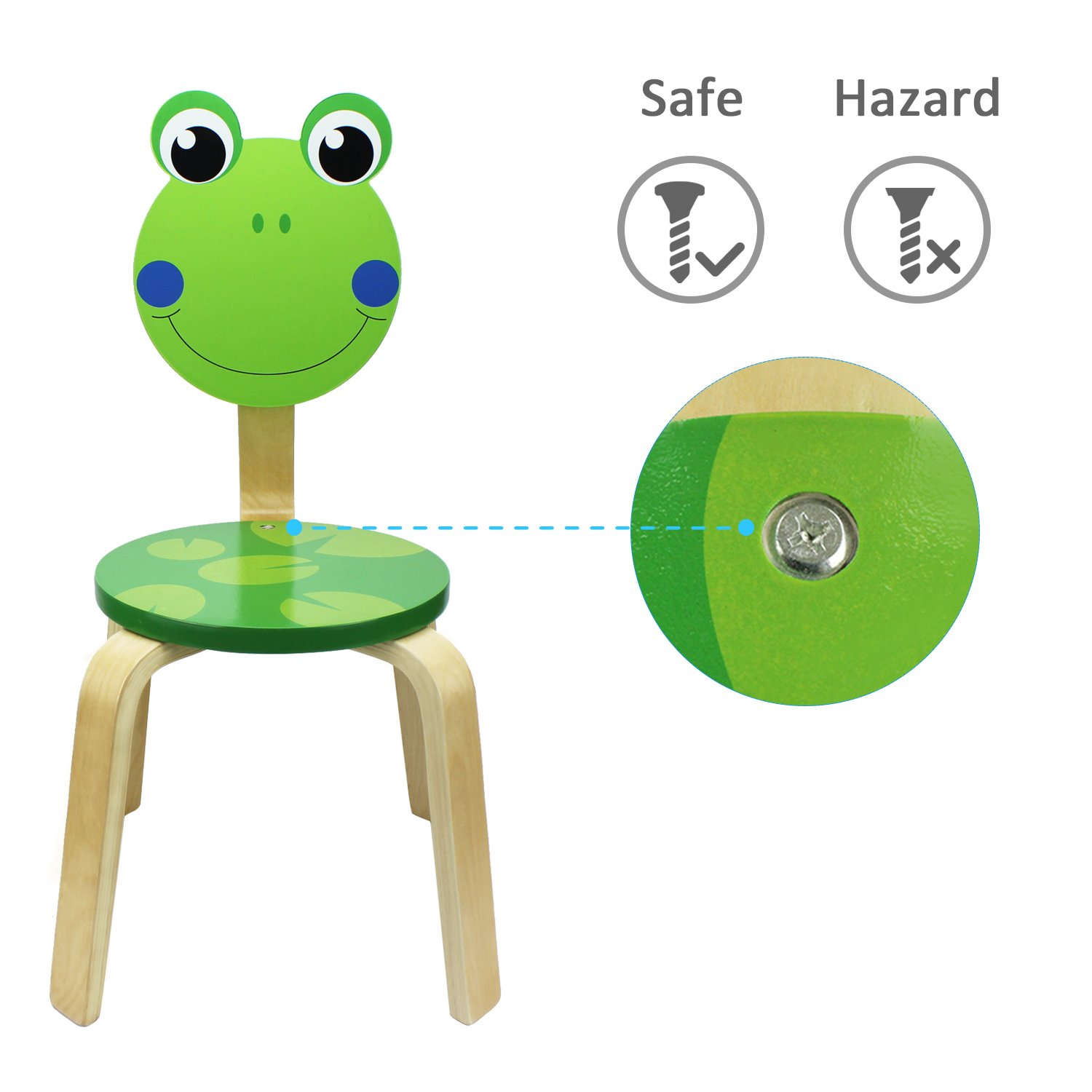 Amazon.com: iPlay, iLearn Kids Wood Stackable Chair, wooden Cute ...