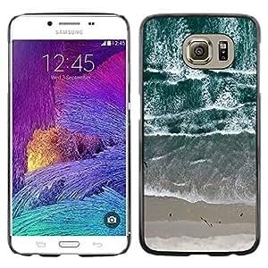 LECELL--Funda protectora / Cubierta / Piel For Samsung Galaxy S6 SM-G920 -- View Beach Waves Sand Sea --