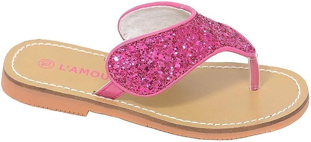 LAmour Fuchsia T Strap Flip Flop Summer Spring Sandal Toddler Girl 8