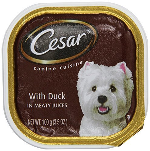 Cesar Canine Cuisine with Duck in Meaty Juices for Small Dogs, 3.5-Ounce Trays Pack of 24 by Cesar