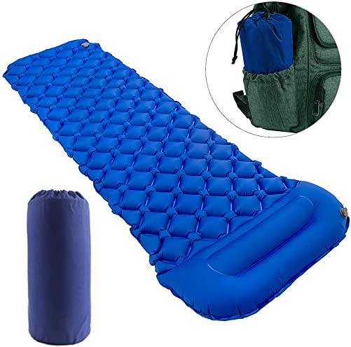 Star Smart Sleeping Pad for Camping Inflatable Backpacking Pad with Pillow, Ultralight Durable Camping Mattress,Hiking Air Mat,Camp Sleep Pad for Hiking Traveling Outdoor Activities