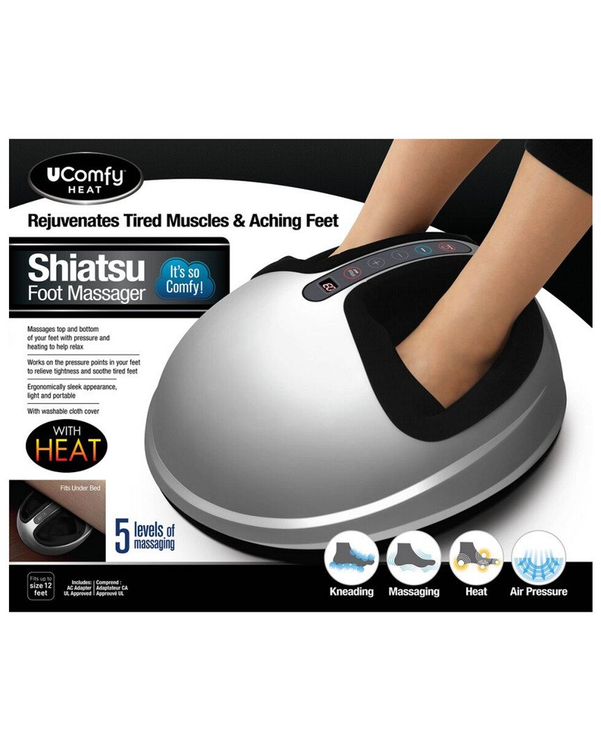 uComfy Shiatsu Foot Massager 2.0, Silver