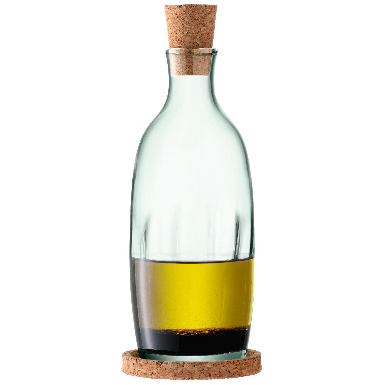 LSA International 390 ml Mia aceite/vinagre y botella tapón de corcho con Base, transparente decorado: Amazon.es: Hogar