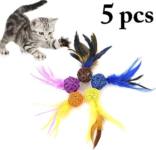 Bangcool - Pelota interactiva para Gatos, 5 Unidades, Juguete para ...