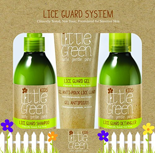Little Green Lice Guard System - 3-Piece Non-Toxic Lice Treatment for Kids - Lice Shampoo - Conditioning Detangler - Lice-Repelling Styling Gel - Formulated with Essential Oils - Safe for Daily Use